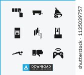 push icon. collection of 9 push ...   Shutterstock .eps vector #1135039757