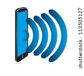 mobile phone | Shutterstock . vector #113505127
