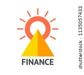 finance logo. vector... | Shutterstock .eps vector #1135057433