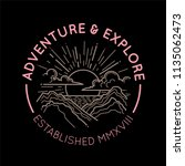 mountain logo emblem concept | Shutterstock .eps vector #1135062473