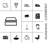 domestic icon. collection of 13 ... | Shutterstock .eps vector #1135085507