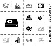 disc icon. collection of 13... | Shutterstock .eps vector #1135085597
