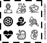 simple 9 icon set of medical... | Shutterstock .eps vector #1135089287