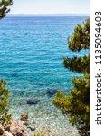 beautiful croatian resort on... | Shutterstock . vector #1135094603