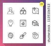 modern  simple vector icon set... | Shutterstock .eps vector #1135106513