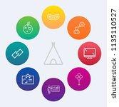 modern  simple vector icon set... | Shutterstock .eps vector #1135110527