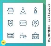 modern  simple vector icon set... | Shutterstock .eps vector #1135113203
