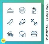 modern  simple vector icon set... | Shutterstock .eps vector #1135114523