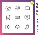 modern  simple vector icon set... | Shutterstock .eps vector #1135114787