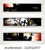 abstract bright header set of... | Shutterstock .eps vector #113512477