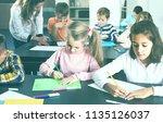 happy american  children of... | Shutterstock . vector #1135126037