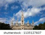 wiener rathaus   city hall in... | Shutterstock . vector #1135127837