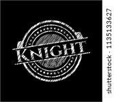 knight on blackboard | Shutterstock .eps vector #1135133627