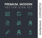 modern  simple vector icon set... | Shutterstock .eps vector #1135143713