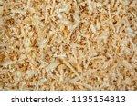 fresh sawdust texture. shavings ... | Shutterstock . vector #1135154813