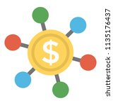 financial network  icon... | Shutterstock .eps vector #1135176437