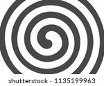 psychedelic spiral with radial... | Shutterstock .eps vector #1135199963