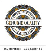genuine quality arabic emblem... | Shutterstock .eps vector #1135205453