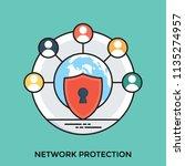 network integrity representing ...   Shutterstock .eps vector #1135274957