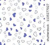 dark pink  blue vector seamless ... | Shutterstock .eps vector #1135277027
