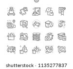 delivery well crafted pixel...   Shutterstock .eps vector #1135277837