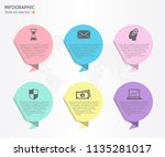 infographic elements with... | Shutterstock .eps vector #1135281017