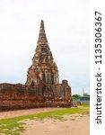 wat yai chai mongkhol in... | Shutterstock . vector #1135306367