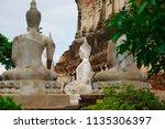 wat yai chai mongkhol in... | Shutterstock . vector #1135306397