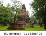 wat yai chai mongkhol in... | Shutterstock . vector #1135306403