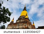 wat yai chai mongkhol in... | Shutterstock . vector #1135306427