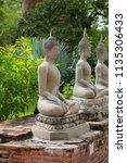 wat yai chai mongkhol in... | Shutterstock . vector #1135306433