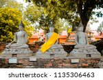 wat yai chai mongkhol in... | Shutterstock . vector #1135306463