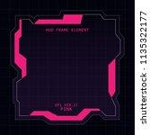 creative hud futuristic square...