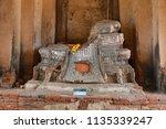 wat yai chai mongkhol in... | Shutterstock . vector #1135339247