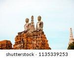 wat yai chai mongkhol in... | Shutterstock . vector #1135339253