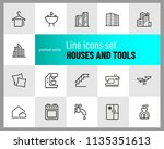 houses and tools icons.... | Shutterstock .eps vector #1135351613