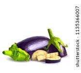 fresh  nutritious  tasty... | Shutterstock .eps vector #1135366007