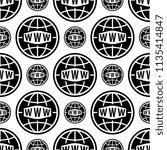 web icon seamless pattern  www... | Shutterstock .eps vector #1135414847