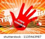 cyber terrorism online...   Shutterstock . vector #1135463987