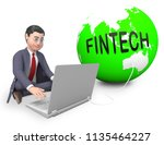 fin tech financial technology... | Shutterstock . vector #1135464227