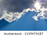 beautiful blue sky with...   Shutterstock . vector #1135474187
