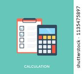 accounting concept with... | Shutterstock .eps vector #1135475897