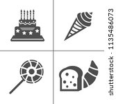 cafe and confectionery icon set.... | Shutterstock .eps vector #1135486073