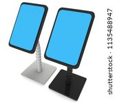 lcd screen stand. trade show... | Shutterstock . vector #1135488947
