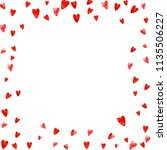 heart frame background with... | Shutterstock .eps vector #1135506227