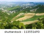 landscape of highlands on the... | Shutterstock . vector #113551693