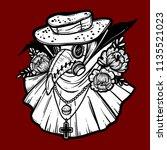 vector art illustration with... | Shutterstock .eps vector #1135521023