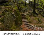 mystic and scary stone steps in ... | Shutterstock . vector #1135533617