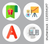 simple 4 icon set of book... | Shutterstock .eps vector #1135554197
