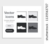 men's shoe placed on web page... | Shutterstock .eps vector #1135563707